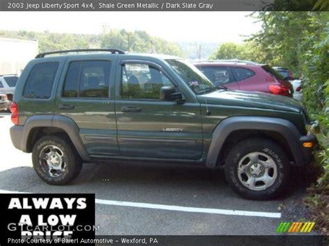 2003 green jeep liberty shale green metallic 2003 jeep liberty sport 4x4 dark