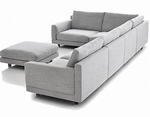 Elle sectional sofa hivemoderncom for Sectional sofa depth