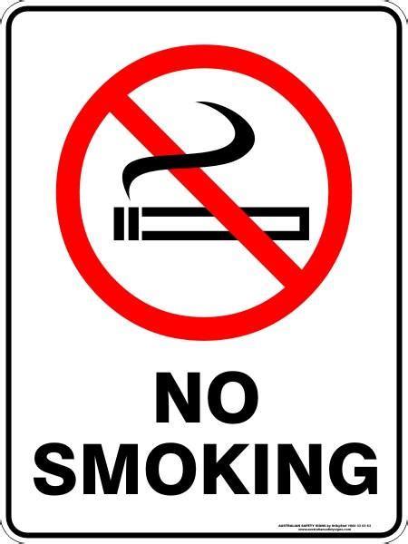 smoking australian safety signs