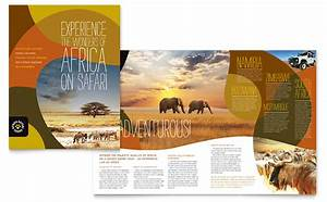 african safari brochure template design With traveling brochure templates