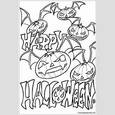Happy Halloween 4 Coloring Page  Free Coloring Pages Online