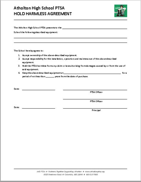 hold harmless agreement templates ms word  pdfs