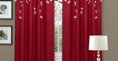 Lush Decor Red Faux Silk 84-inch Flower Drop Curtain Panel (red Panel), Size 42 X 84 Iphone 4 Screen Curtain Off Lush Decor Leah Window Panel Set Of 2 How To Add Curtains Blinds White Living Room Grey Install Over Roller Allen Roth Rod Reviews Wooden Pole Brackets Uk Fly Nz