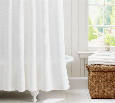 waffle weave shower curtain pottery barn