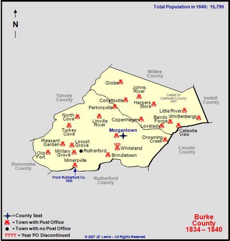 Burke County, NC - 1834 to 1840