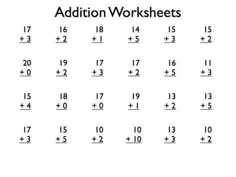 pdf free printable addition worksheets grade 1