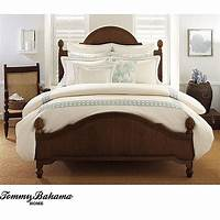 overstock duvet cover Tommy Bahama 'Cane' Embroidered Queen-size Duvet Cover ...