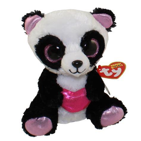 ty beanie boos cutie pie  panda glitter eyes