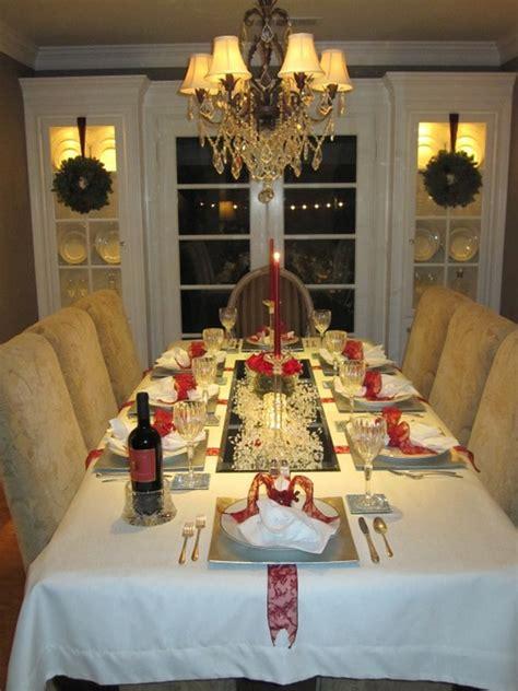 posh christmas table settings