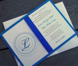 blue wedding invitations monogram wedding invitation blue wedding invitation royal