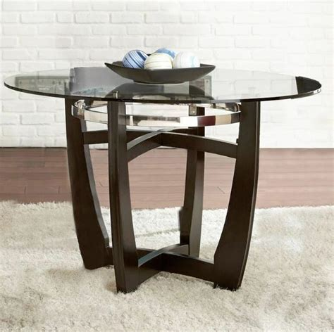 glass dining table  top tempered wood chrome metal