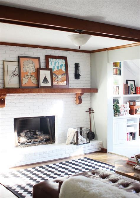 painting your own house interior fireplace makeover tutorial on how to paint your own