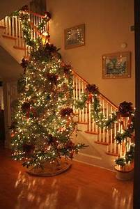 1000 ideas about Christmas Stairs Decorations on