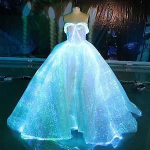 fiber optic fabric clothing luminous fiber optic wedding With fiber optic wedding dress