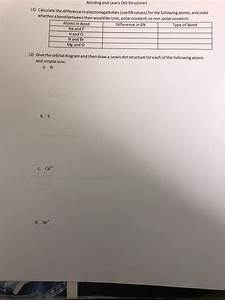 Solved  Bonding And Lewis Dot Structures  1  Calculate The