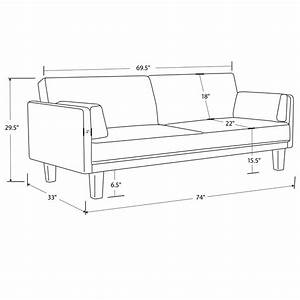 Futon sofabed frame and mattress set sleeper convertible for Sofa bed measurements