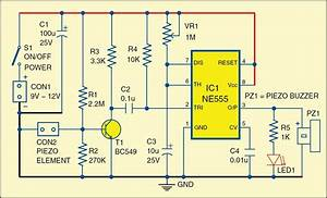Glass Break Alarm Circuit Diagram