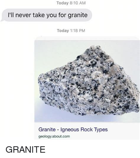 today 810 am i ll never take you for granite today 118 pm