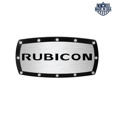 jeep wrangler rubicon logo all things jeep rubicon logo billet hitch cover