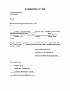 remarkable promissory note letter example for personal With promissory letter template
