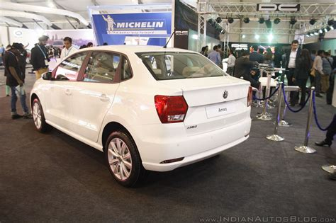 volkswagen ameo silver vw ameo showcased at the make in india event