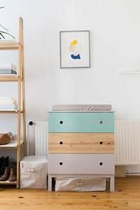 Ikea Tarva Kommode : ikea hack tarva kommode wird zum farbenfrohen wickeltisch ~ Orissabook.com Haus und Dekorationen