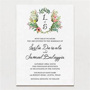 Wedding invitations tagged quothand drawnquot printable press for Wedding invitation template for sale