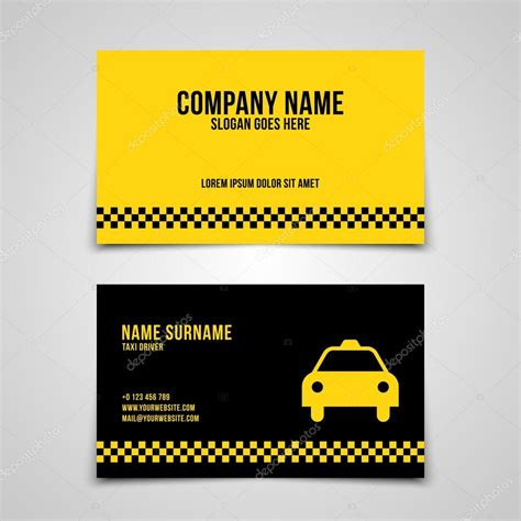 modele carte de visite taxi mod 232 le de carte de visite taxi image vectorielle 109299388