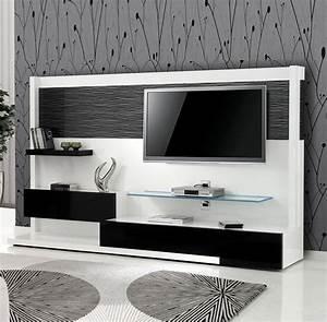 Meuble Tv Au Mur : meuble tv mural meuble tv haut pas cher trendsetter ~ Teatrodelosmanantiales.com Idées de Décoration