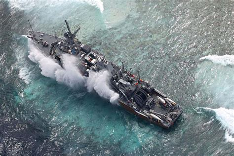 grounded navy ship   water  philippines