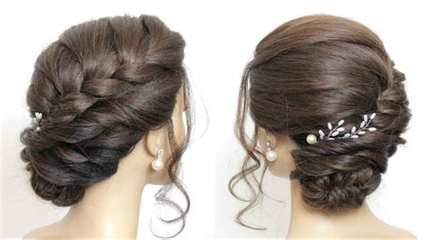 Braided Side Bun Hairstyles by Braided Side Bun Updo Hairstyles For Hair