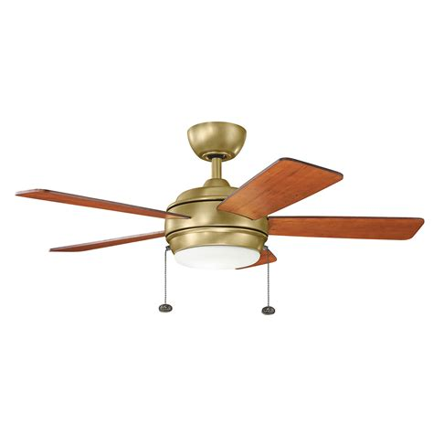 42 inch ceiling fan with light starkk natural brass 42 inch led ceiling fan with light