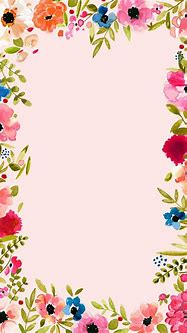 Pink flowers and   Floral background, Floral border