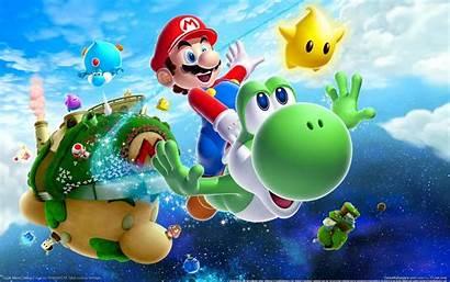 Mario Super Wallpapers Bros Galaxy Nintendo Yoshi