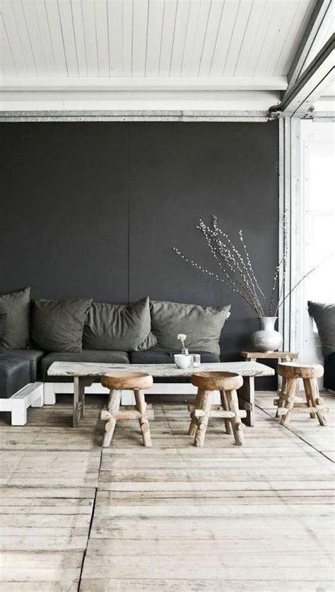 Anthrazit Farbe Wand by Die Graue Wandfarbe 43 Interieur Ideen Damit Archzine Net
