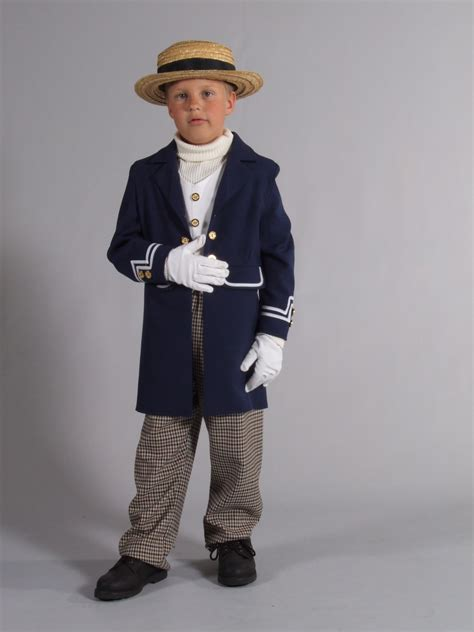 Boys victorian Costume Navy