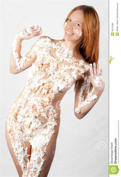 Whipped Cream And Sprinkles Stock Photo Image Of Nude
