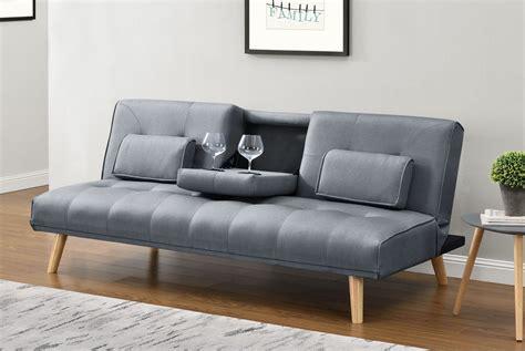 Stylish Sofa Beds by Charcoal Grey Fabric Modern Scandi Sofa Bed