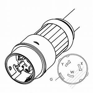 Usa  Canada Ac Plug  Nema Ss2  250v  3 P   4