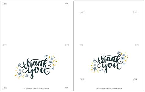 free thank you notes templates freebie printable thank you card