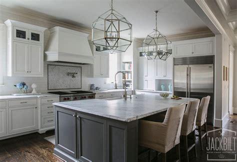 gray kitchen island white and gray kitchen designed by jackbilt homes home 1326