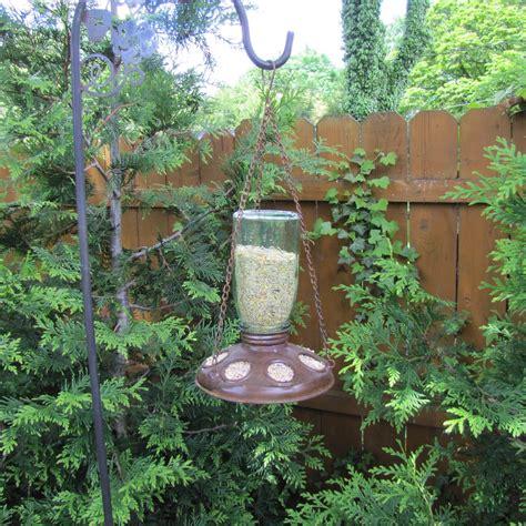 Mason Jar Hanging Wild Bird Feeder Rustic Primitive