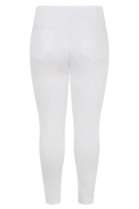 Jegging Jenny  Blanc  Grande Taille 44 à 64  Yours Clothing