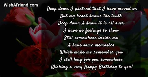 Heart touching happy birthday wishes for ex girlfriend. Birthday Messages For Ex Girlfriend