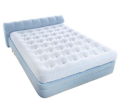 aerobed queen elevated headboard bed with auto shut off