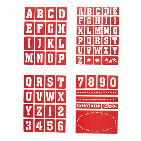 Kitchen Craft Number by Kitchencraft Home Made Number Letter Stencils For Glass