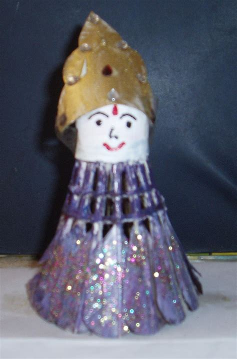 easy crafts explore  creativity shuttle cock doll