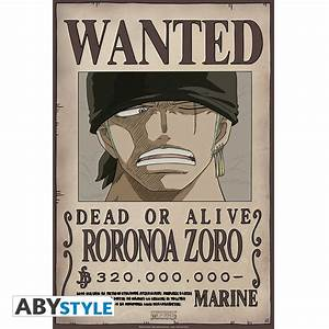 ONE PIECE Poster Wanted Zoro New (52x35cm) - ABYstyle