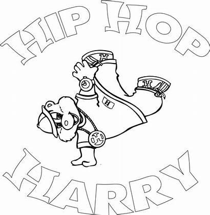 Hop Hip Coloring Pages Sheets Harry Rap