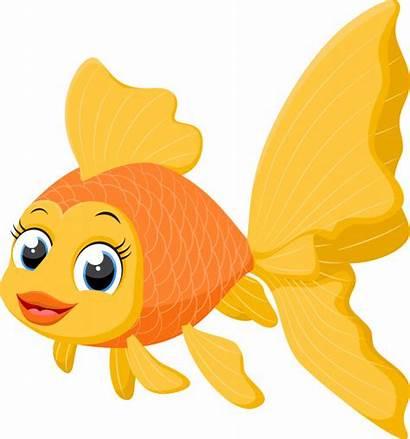 Cartoon Goldfish Vector Premium